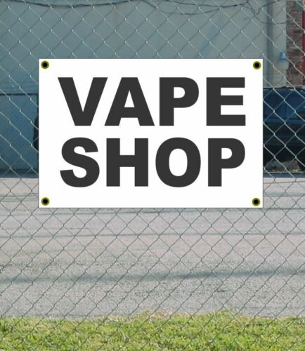 2x3 VAPE SHOP Black /& White Banner Sign NEW Discount Size /& Price FREE SHIP