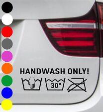 2er Set WD Autoaufkleber HANDWASH ONLY 30 HANDWÄSCHE Tuning Aufkleber Autowäsche