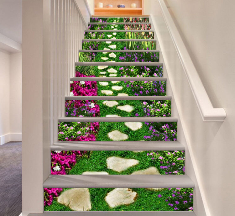 3D Lawn gravel 363 Stair Risers Decoration Photo Mural Vinyl Decal Wallpaper AU
