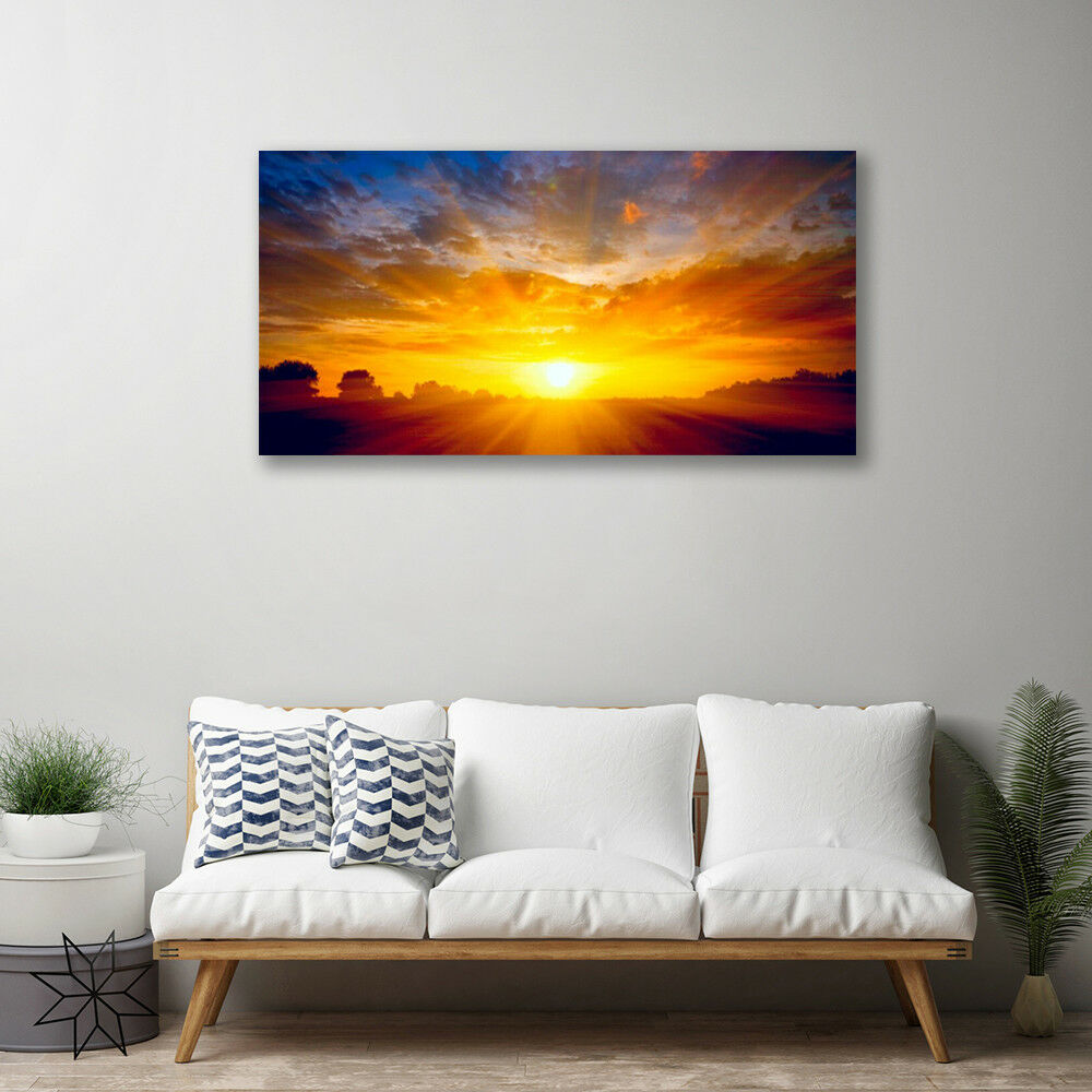 Canvas print Wall art on 100x50 Image Picture Sun Sun Sun Landscape 7c0149