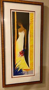 "EMILE BELLET ""Feminite"" LIMITED EDITION HAND SIGNED COLOR LITHOGRAPH Framed COA"