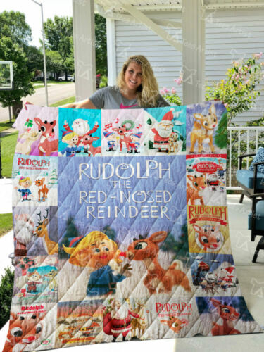 Rudolph the Red-Nosed Reindeer Quilt Blanket 0844