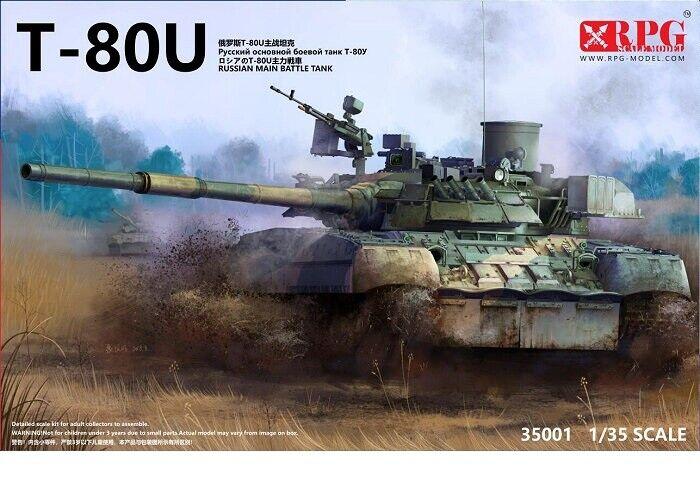 RPG Model 1 35 Soviet Russian T-80U Main Battle Tank (MBT)