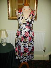 Laura Lees for Topshop size S Navy Floral Tea Style Dress £45 BNWT Embroidery
