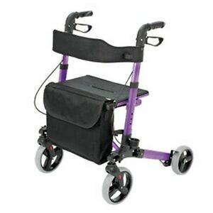 NEW-HealthSmart-Compact-Lightweight-Gateway-Folding-Rollator-Walker-Purple