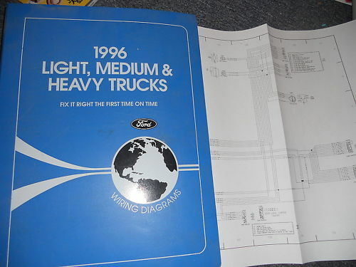 1996 FORD F700 F800 FT900 F-700 CAB WIRING DIAGRAMS