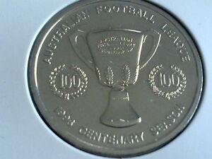 RICHMOND TIGERS HERALD SUN AFL CENTENARY COMMEMORATIVE MEDAL COIN 1996