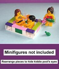 LEGO Custom Hot Tub Kiddie Pool Bath Wine Alcohol Soda Frog Bathroom Bath Mini