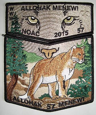 OA LANGUNDOWI 46 2-PATCH GRN MYLAR TREE SMY 100TH ANN CENTENNIAL 2015 NOAC FLAP