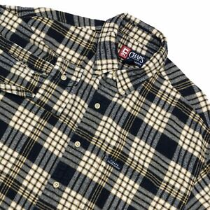 CHAPS-RALPH-LAUREN-MENS-FLANNEL-COTTON-LONG-SLEEVE-PLAID-BUTTON-DOWN-SHIRT-L