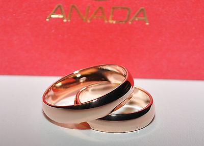1 Paar Trauringe Eheringe Hochzeitsringe Gold 585 Rotgold Breite 6mm U 3mm Ebay