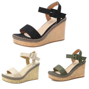 Women-Fish-Mouth-Platform-High-Heels-Wedge-Sandals-Buckle-Slope-Summer-Sandals
