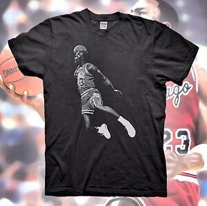 meet c1393 11ac8 Details about MICHAEL JORDAN T-Shirt Retro Bred Black White Poster Cement  Air Bulls 11 5 3 4 1