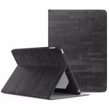 "Apple iPad 9.7"" 2017 5th Generation Leather Case Clear Back Cover Space Gray"