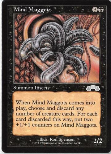 Mind Maggots *PLAYSET* Magic MtG x4 Exodus SP