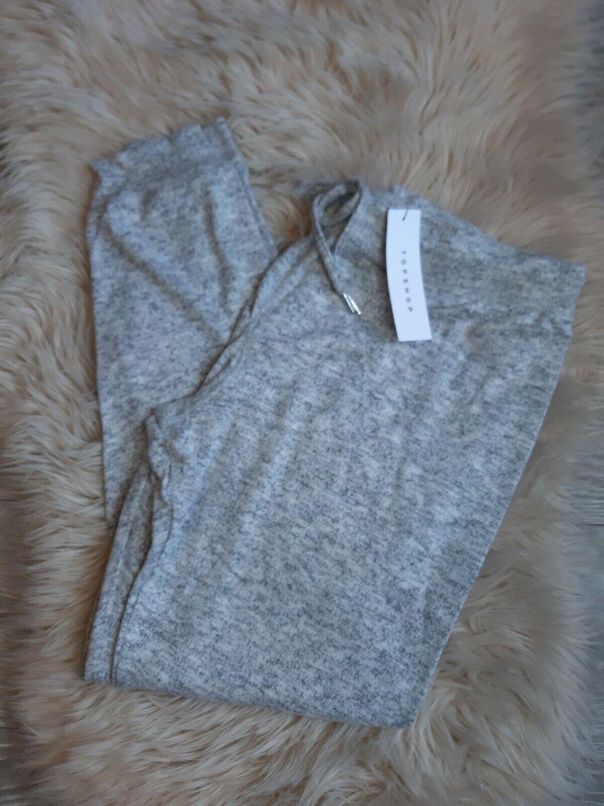Topshop Womens Petite Grey Knitted Joggers Activewear Loungewear Bottoms UK18