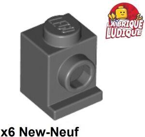 6 x LEGO 4070 Brique Phare Brick 1x1 Headlight NEUF NEW gris, light grey