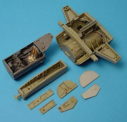 AIRES-HOBBY-1-48-ME262A-WHEEL-BAY-amp-COCKPIT-SET-FOR-TAM-4148