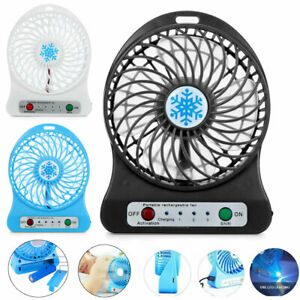 Portable-Rechargeable-LED-Fan-air-Cooler-Mini-Operated-Desk-USB-18650-Battery