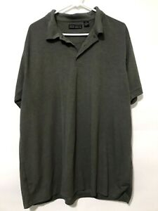 Perry-Ellis-Portfolio-Mens-Short-Sleeve-Golf-Polo-Shirt-Green-Size-2XL