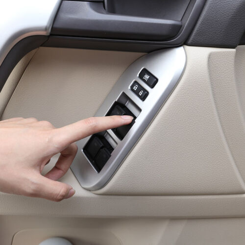For Toyota Land Cruiser Prado FJ150 Door Window Lift Button Cover Trim 2010-2019