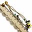 miniature 8 - Bracelet Flower Daisy Beads Girls Ceramic Charm Jewellery Silver Ankle Girls