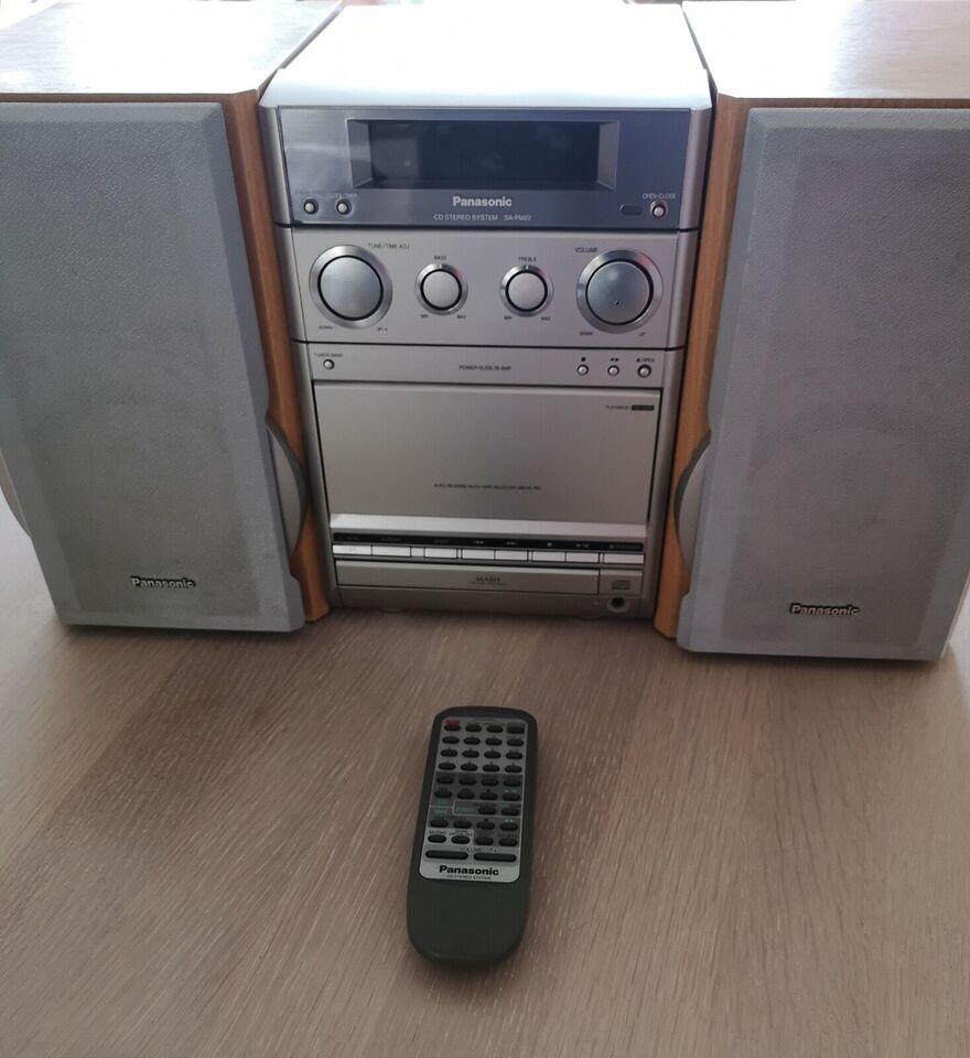 Microanlæg , Panasonic, SCPM 22