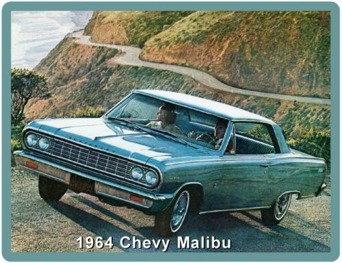 1964 Chevrolet Malibu Refrigerator Tool Box Magnet Man Cave