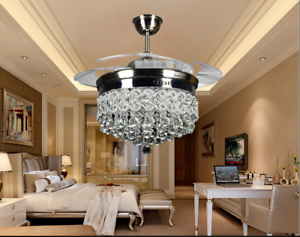 42-034-Silver-Crystal-Ceiling-Fan-Chandelier-w-Led-Light-Remote-Retractable-Blades