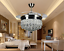 42-034-Silver-Crystal-Ceiling-Fan-Chandelier-w-Led-Light-Remote-Retractable-Blades thumbnail 1