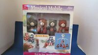 Kids Ii 2 Button Bears Red Blue Teddy Musical Boy Girl Baby Crib Mobile 1998