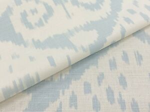 Quadrille Ikat Linenprint Fabric Malaya Zibby Blue On White 1 30 Yd 306042f Ebay