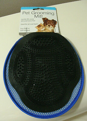 Dogs Grooming Mitt Cat Pets Blue Black Wet Dry Left Right Hand Rubber Bristles