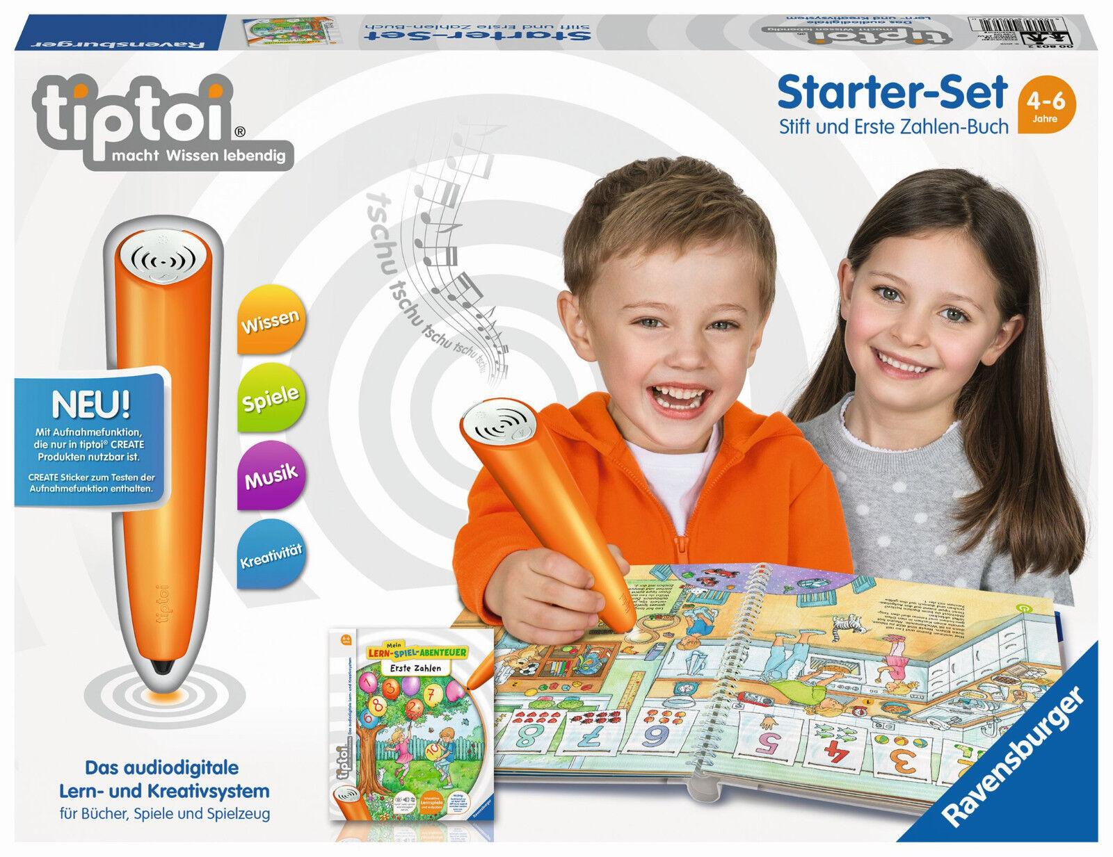 Tavensburger Tiptoi - Starter Set, Pin and First Zahlen-Buch, Nip