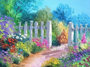 Background for Dollhouse Garden: Wallpaper Glossy: Garden Gate 10 - 8 X 10