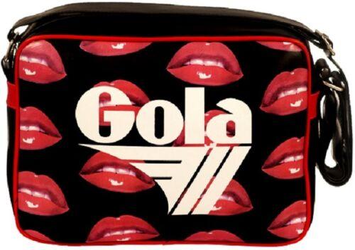 Bianco Gola Bag Woman Didi Redford Glossy Lip Borsa Tracolla Donna Nero //Rosso