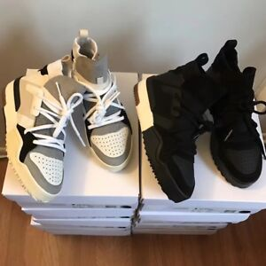 Adidas originals by alexander wang sneakers with suede black