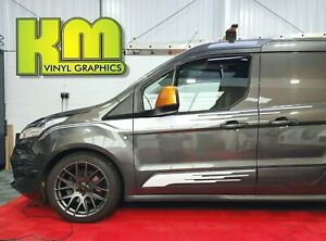 Transit-Connect-M-Sport-MS-RT-Style-Side-Stripes-van-decals-Various-Colours