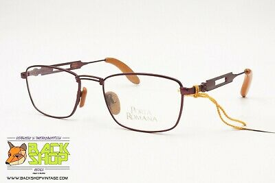 Utile Porta Romana Made In Italy Mod. J 07 C.927 Vintage Eyeglass Frame, Wood Inserts