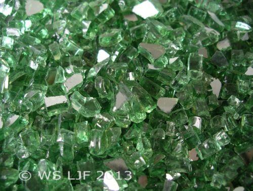 """1//4/"""" Vert Réfléchissant fireglass verre de cheminée Roches Fire Pit cristaux"""