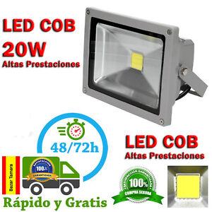 Foco 20W Proyector LED COB Exterior IP65 Iluminacion Luz blanco Frio Focos 6500K
