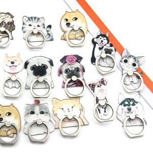 Mobile-Phone-Finger-Ring-Stand-Holder-Dog-Smartphone-Funny-Little-Dog-Cat