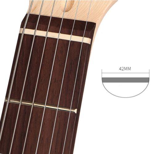 42mm//1.65in Knochen Sattel For 6 Saiten E-Gitarre Strat Stratocaster Tele st TL