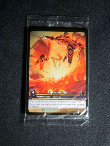 8 World of Warcraft WoW TCG Explosive Trap Honor Promo Extended Art Uncommon