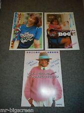 SOPHIE MARCEAU - 3 DIFFERENT JAPANESE BOOKLETS - LA BOUM 2