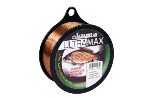 Karpfenschnur OKUMA Ultramax Carp 0,35-0,40mm Angelschnur Feederschnur Braun