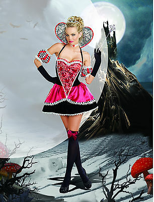 Sexy Adult Halloween DreamGirl Queen of Hearts Fairytale Wonderland Costume