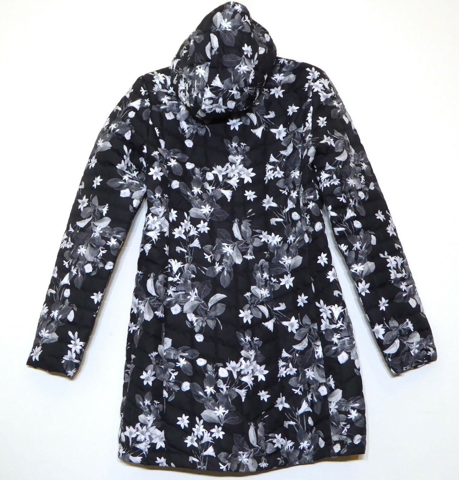 18e5994ee The North Face Womens Thermoball Hooded Parka II Insulated Jacket Black  Flower M