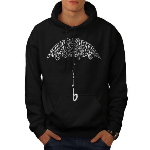 Casual Hooded Sweatshirt Wellcoda Umbrella Note Music Music Mens Hoodie