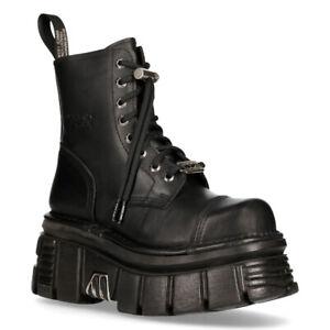 NEW-ROCK-M-NEWMILI083-S21-TOWER-COMBAT-BOOTS-Black-Leather-Platform-Biker-Shoes